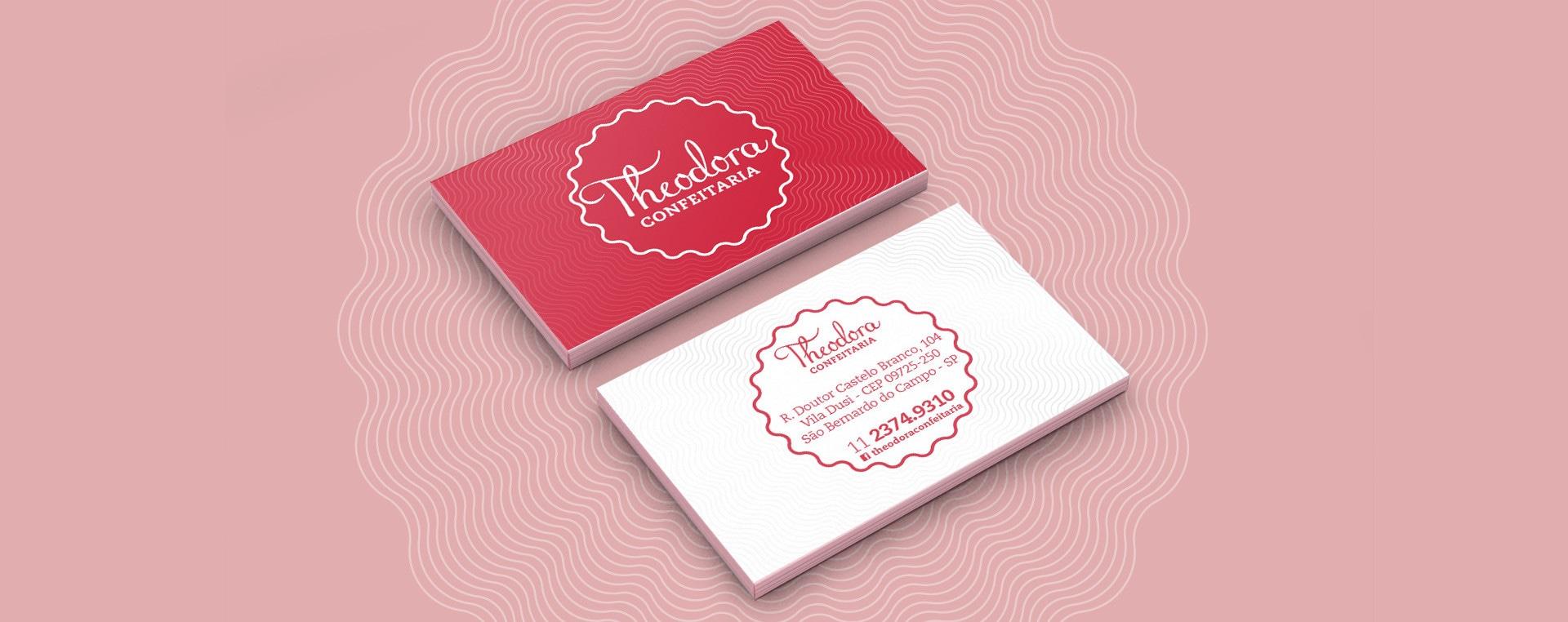 cartão de visitas Theodora Confeitaria