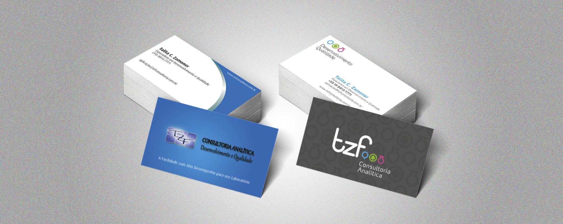 cartão de visitas TZF Consultoria
