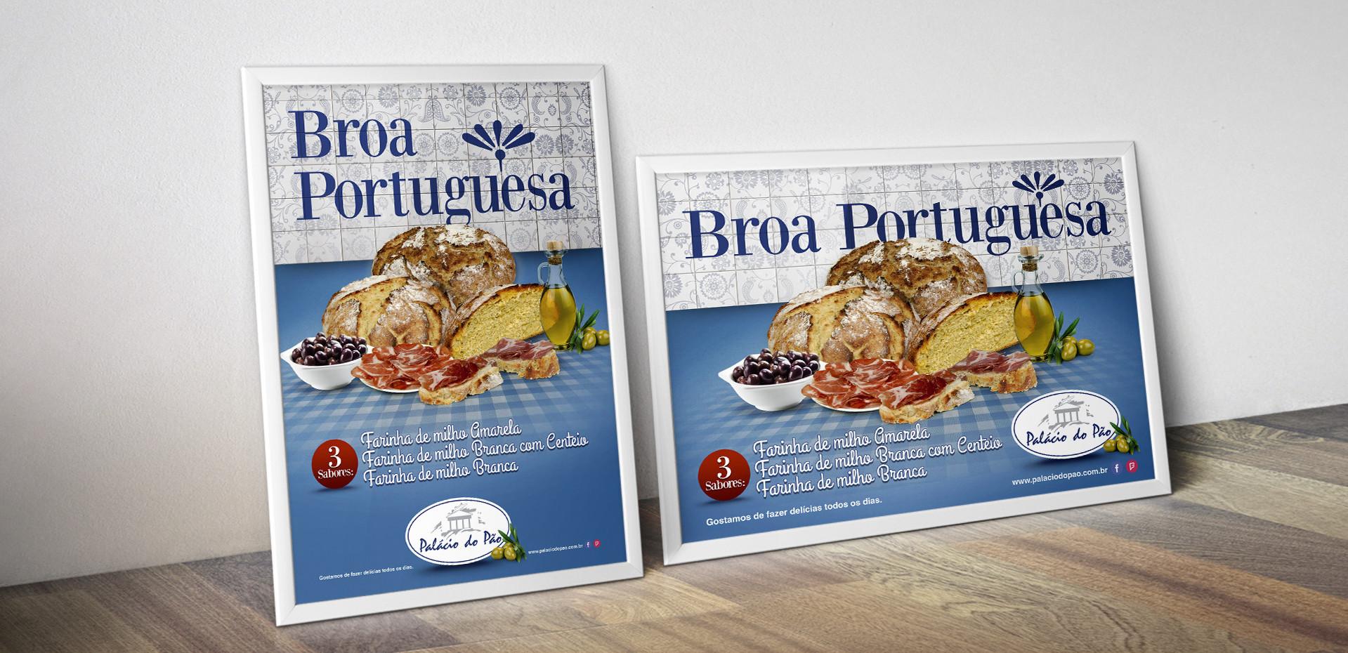 cartazes broa portuguesa Padaria Palácio do Pão