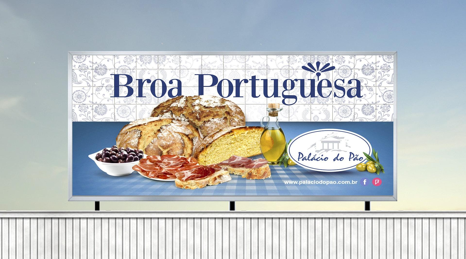 painél broa portuguesa Padaria Palácio do Pão