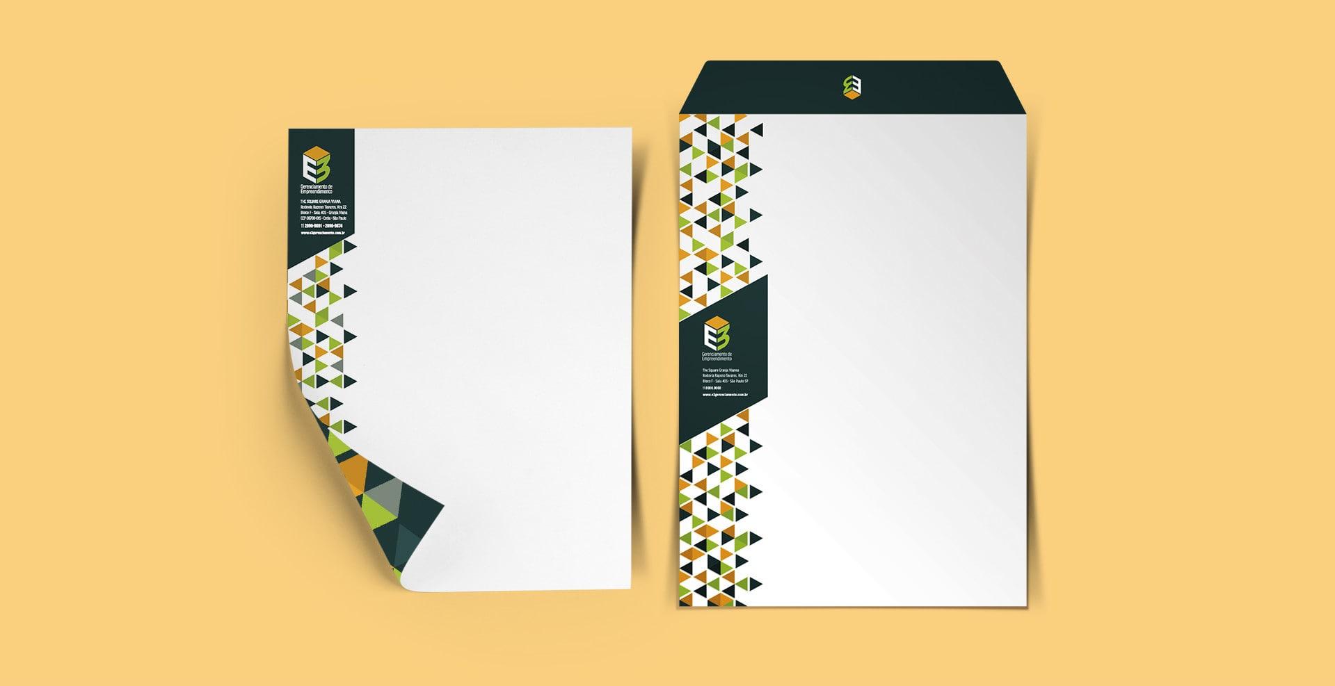 papel envelope E3 Gerenciamento
