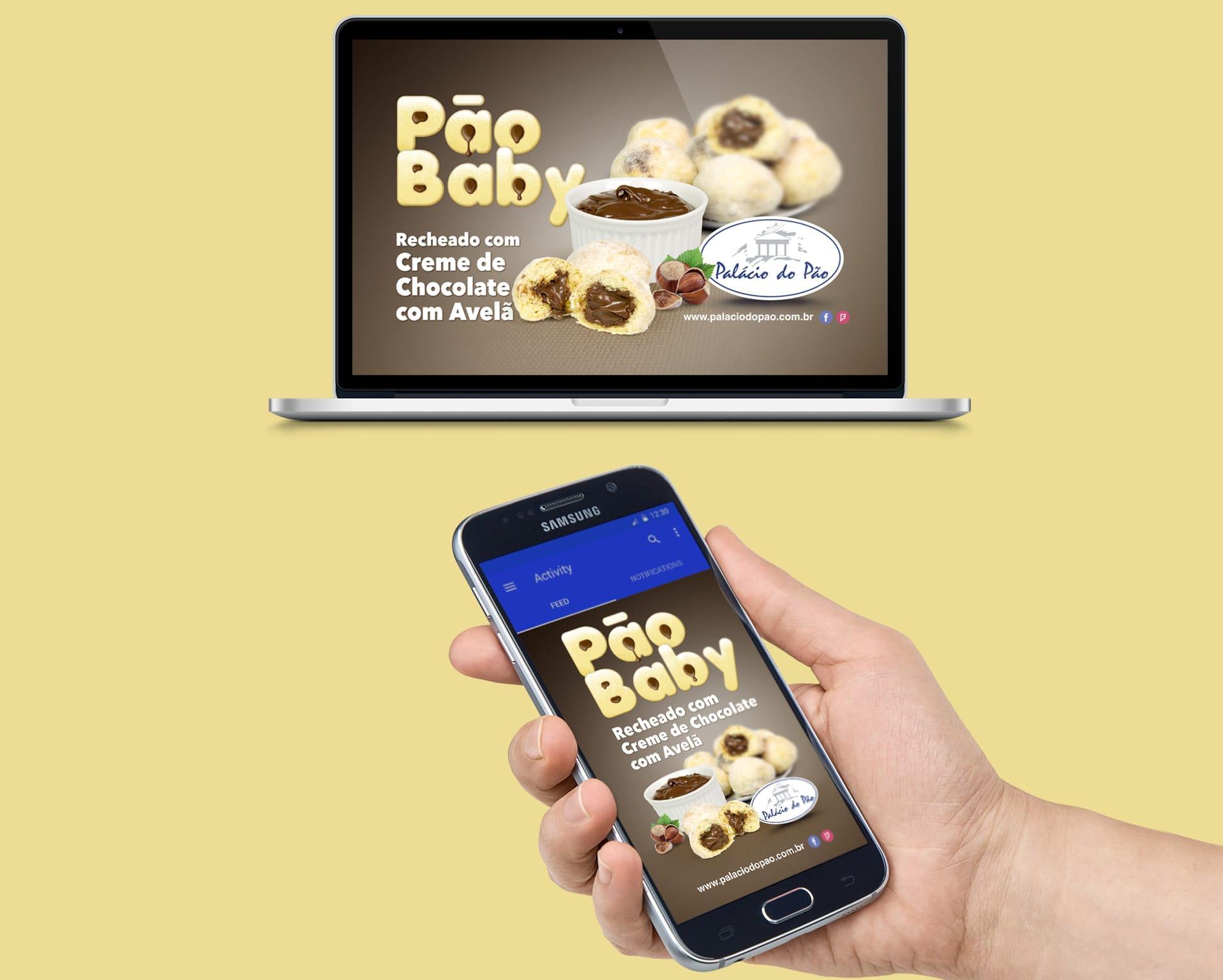 web pão baby Padaria Palácio do Pão