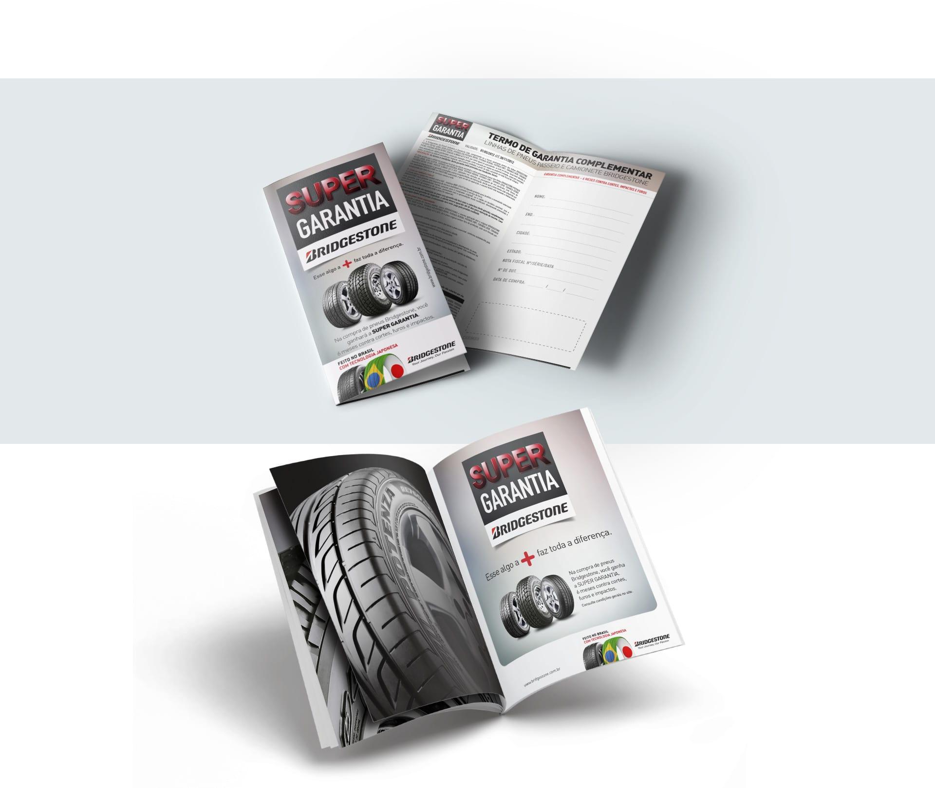 folheto super garantia Bridgestone