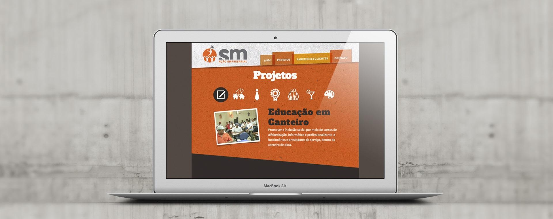 Web Site SM Ação Empresarial